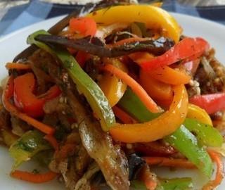 aubergine grilles repas russe anniversaire gîte Nice